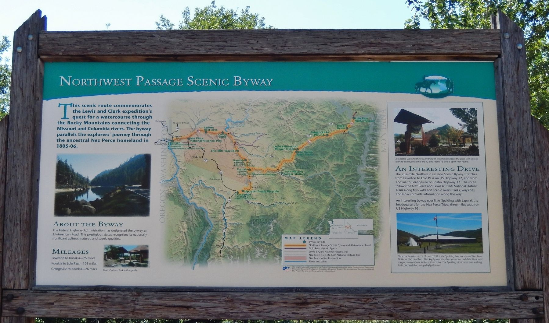 Northwest Passage Scenic Byway Marker image. Click for full size.
