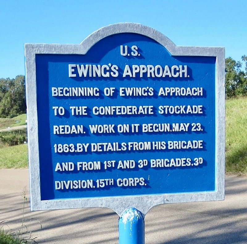 <small>U.S.</small> Ewing&#39;s Approach. Marker image. Click for full size.