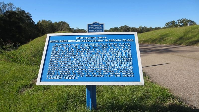 View of marker looking west on Old Graveyard Road. image. Click for full size.