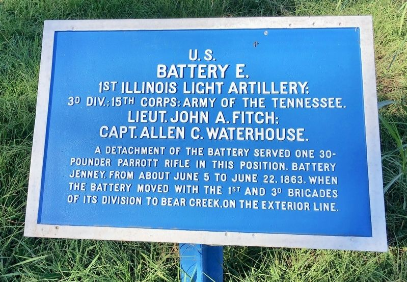<small>U.S. </small> Battery E, Marker image. Click for full size.