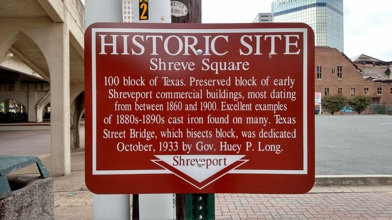 Shreve Square Marker image. Click for full size.