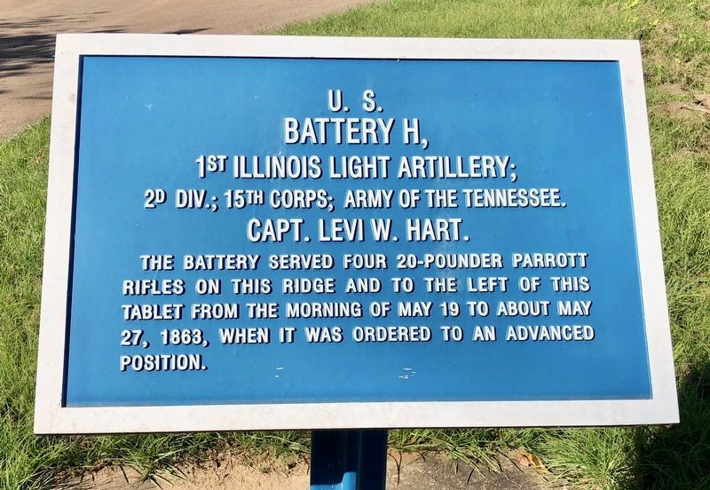 <small>U.S.</small> Battery H, Marker image. Click for full size.