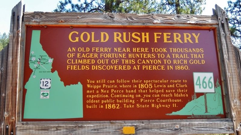 Gold Rush Ferry Marker image. Click for full size.