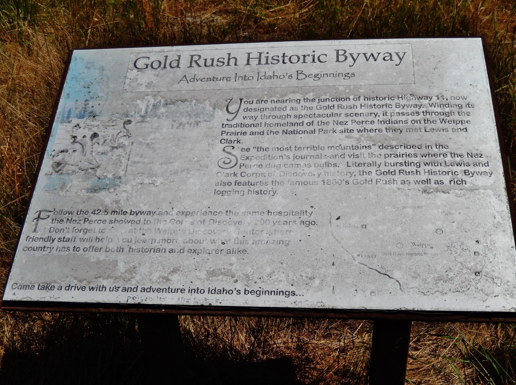 Gold Rush Historic Byway Marker image. Click for full size.