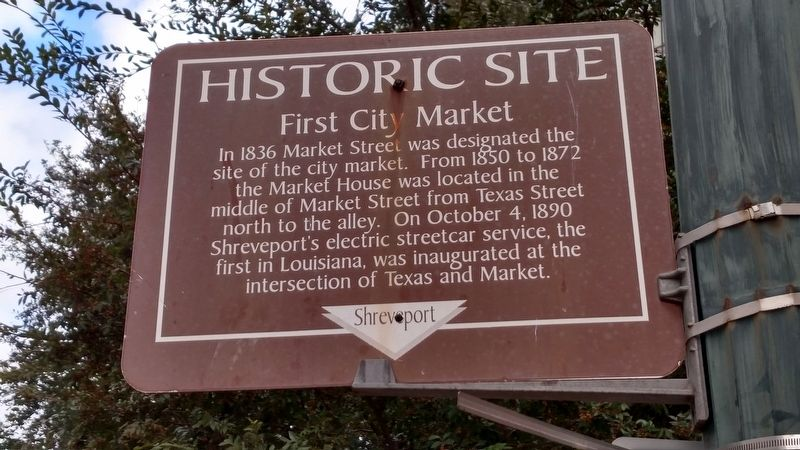 First City Market Marker image. Click for full size.