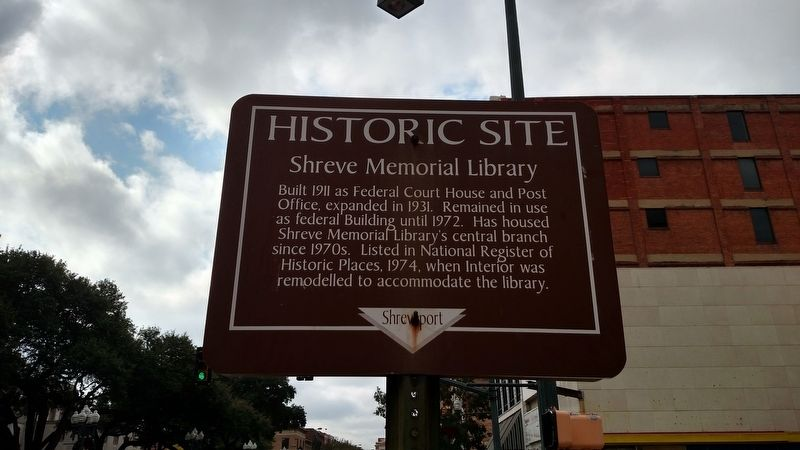 Shreve Memorial Library Marker image. Click for full size.