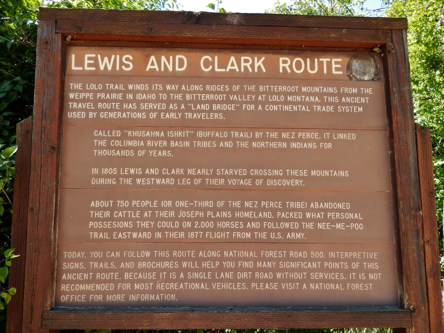 Louis and Clark Route Marker image. Click for full size.