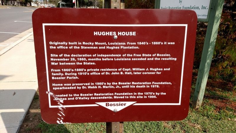 Hughes House Marker #2 image. Click for full size.