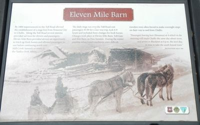 Eleven Mile Barn Marker image. Click for full size.