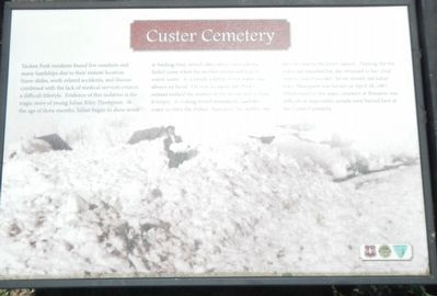 Custer Cemetery Marker image. Click for full size.