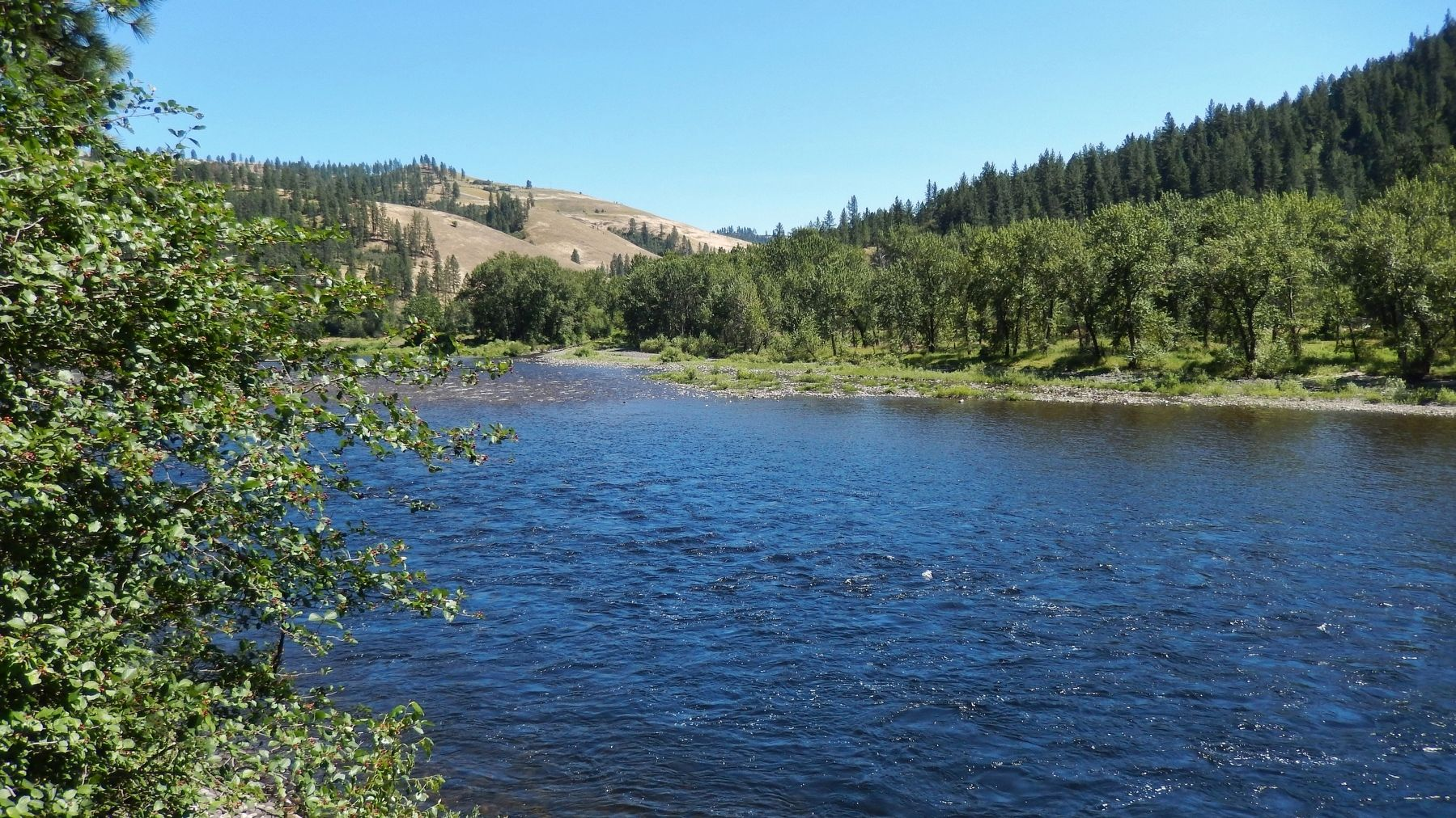 View of Clearwater River from the marker image. Click for full size.