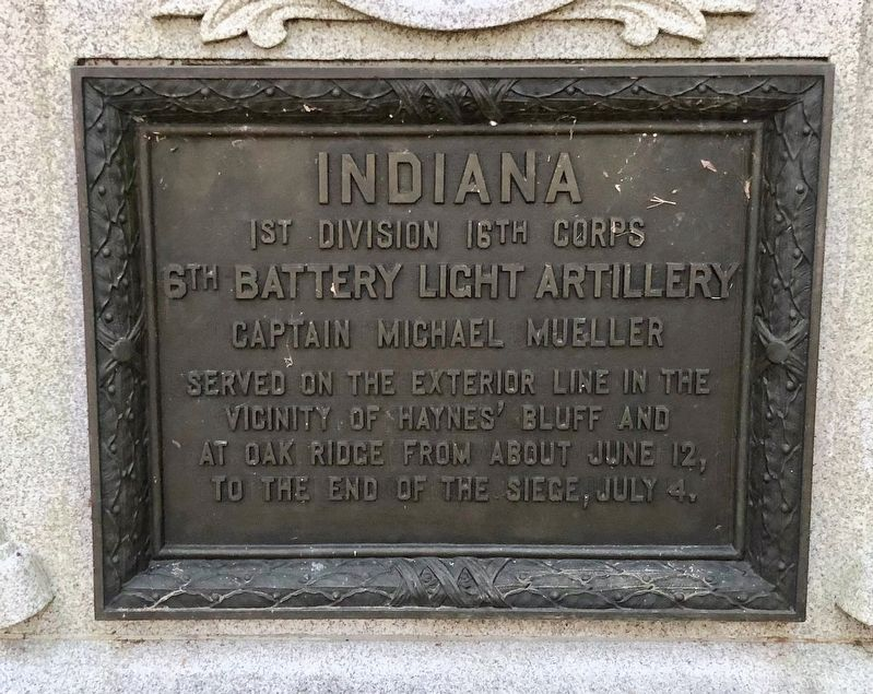 Indiana 6th Battery Light Artillery Marker image. Click for full size.