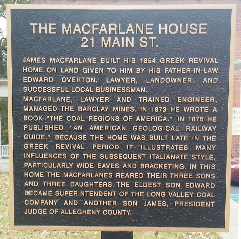 The Macfarlane House Marker image. Click for full size.