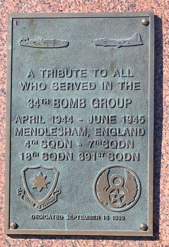 34th Bomb Group Memorial image. Click for full size.
