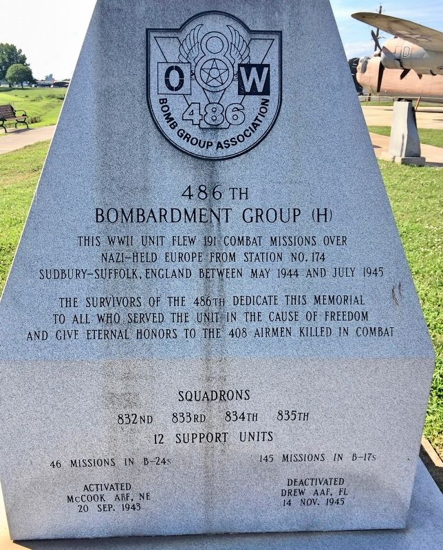 486th Bombardment Group (H) Memorial image. Click for full size.