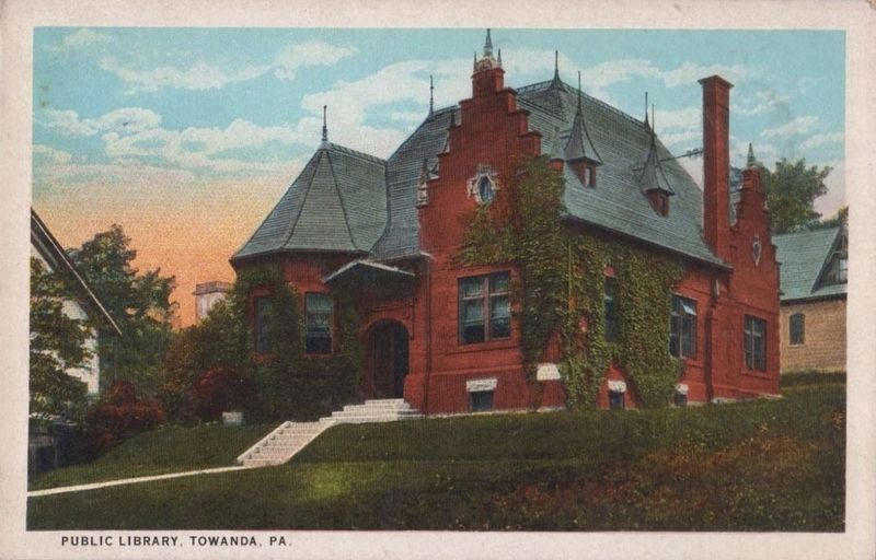 <i>Public Library, Towanda, Pa.</i> image. Click for full size.