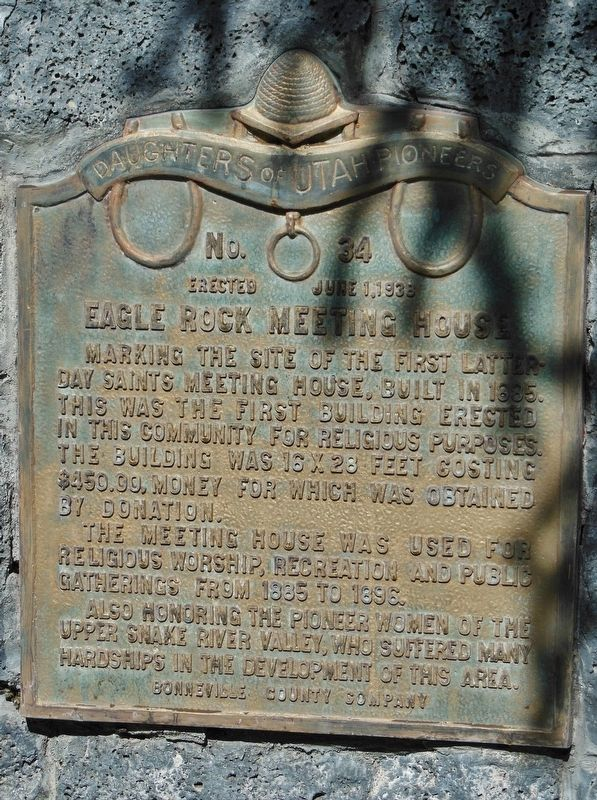 Eagle Rock Meeting House Marker image. Click for full size.