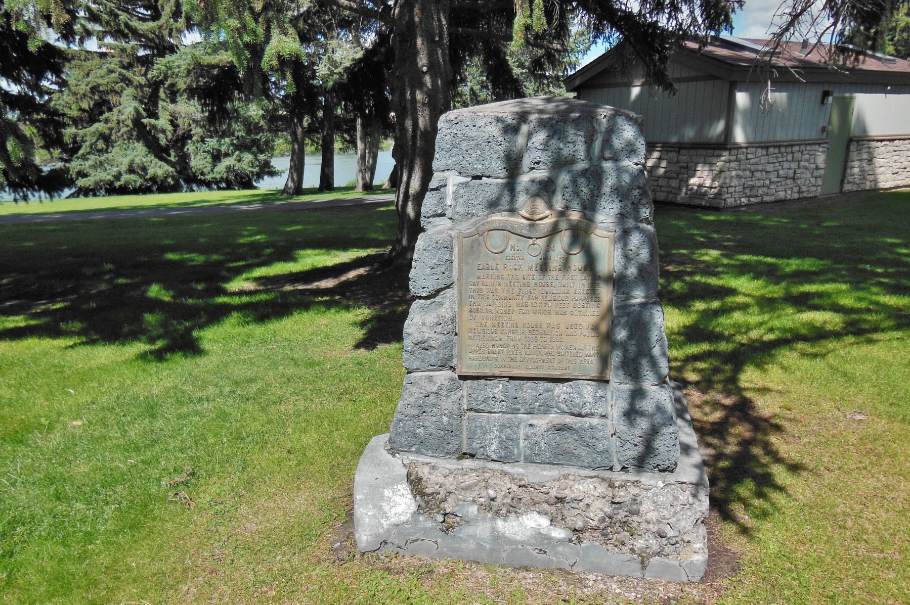 Eagle Rock Meeting House Marker (<i>wide view</i>) image. Click for full size.