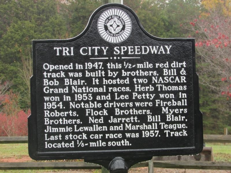 Tri City Speedway Marker image. Click for full size.
