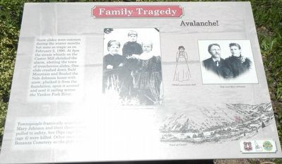 Family Tragedy Marker image. Click for full size.