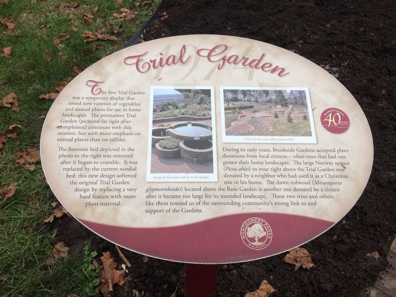 Trial Garden Marker image. Click for full size.