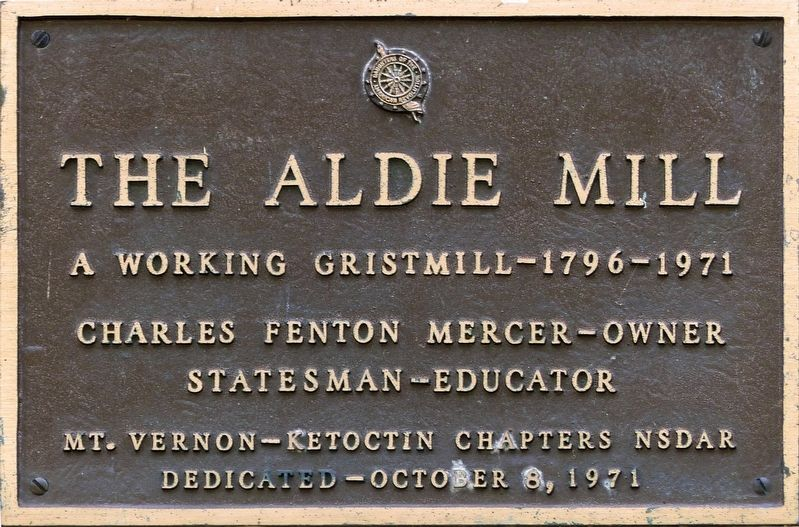 The Aldie Mill Marker image. Click for full size.