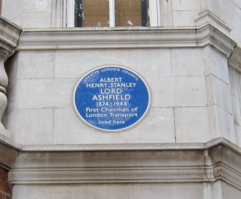 Lord Ashfield Marker image. Click for full size.