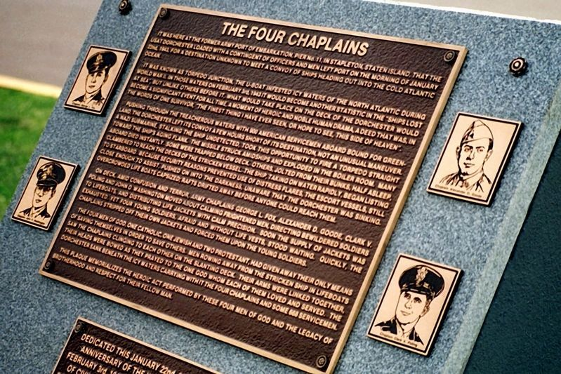 The Stapleton Four Chaplains Memorial Marker image. Click for full size.