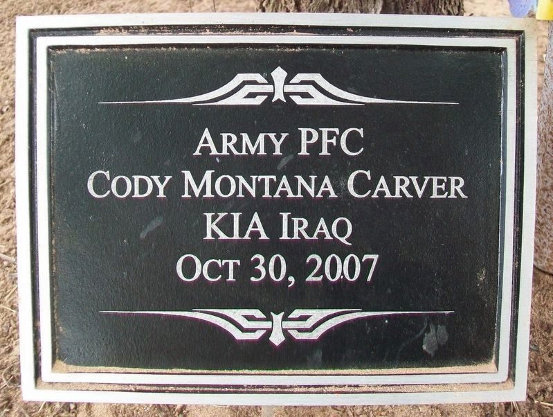 PFC Cody M. Carver Marker image. Click for full size.