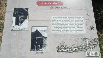 Custer Jail (site) Marker image. Click for full size.