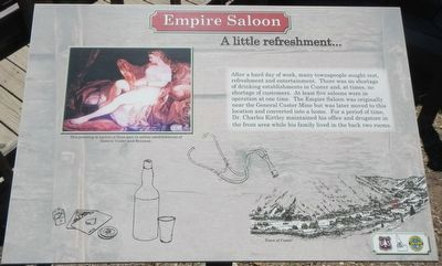 Empire Saloon Marker image. Click for full size.