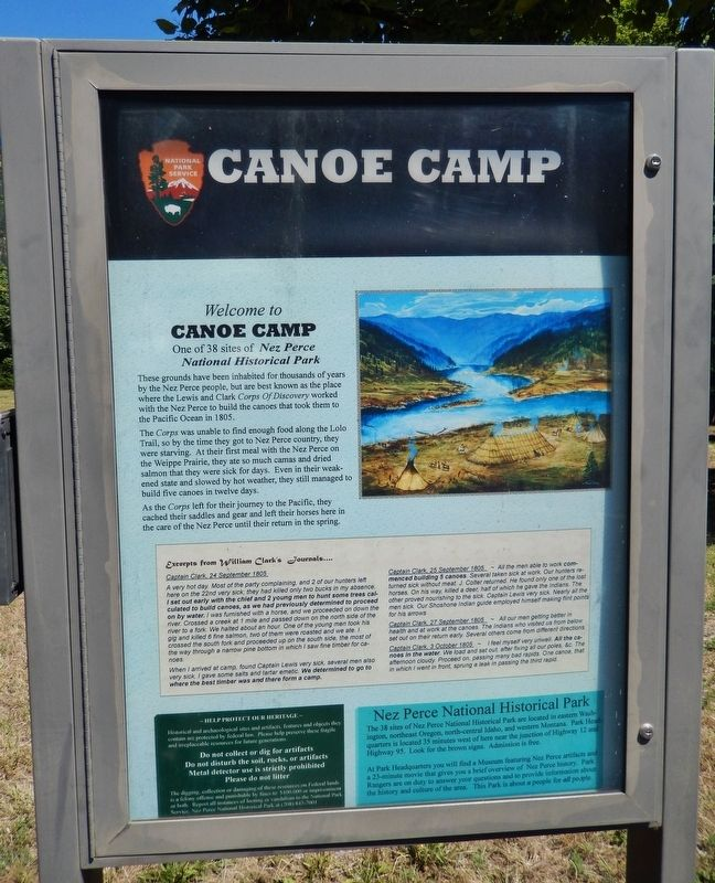 Canoe Camp Marker image. Click for full size.