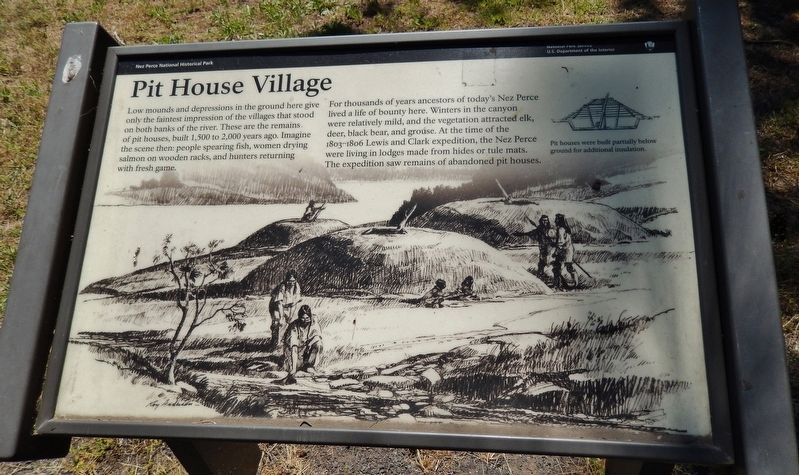 Pit House Village Marker image. Click for full size.