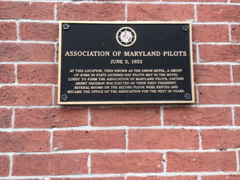 Association of Maryland Pilots Marker image. Click for full size.