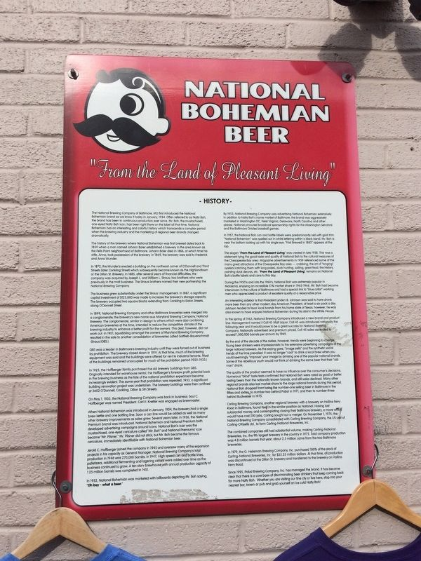 National Bohemian Beer Marker image. Click for full size.