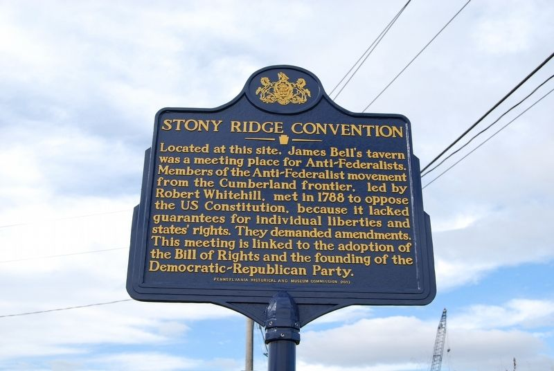 Stony Ridge Convention Marker image. Click for full size.