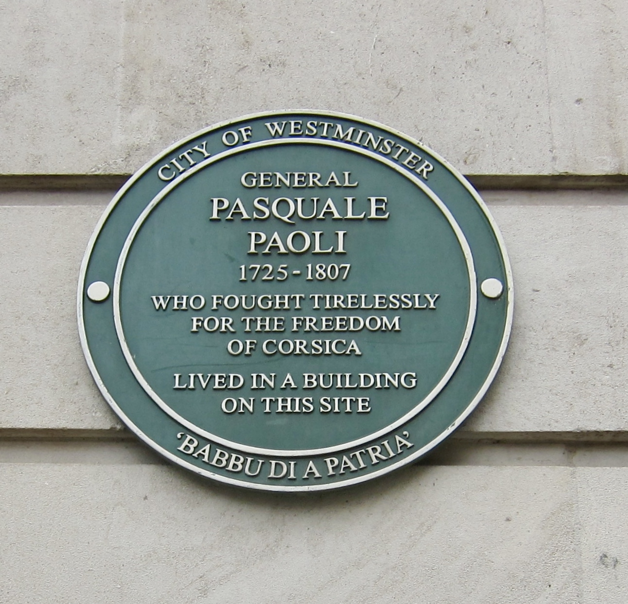 General Pasquale Paoli Marker