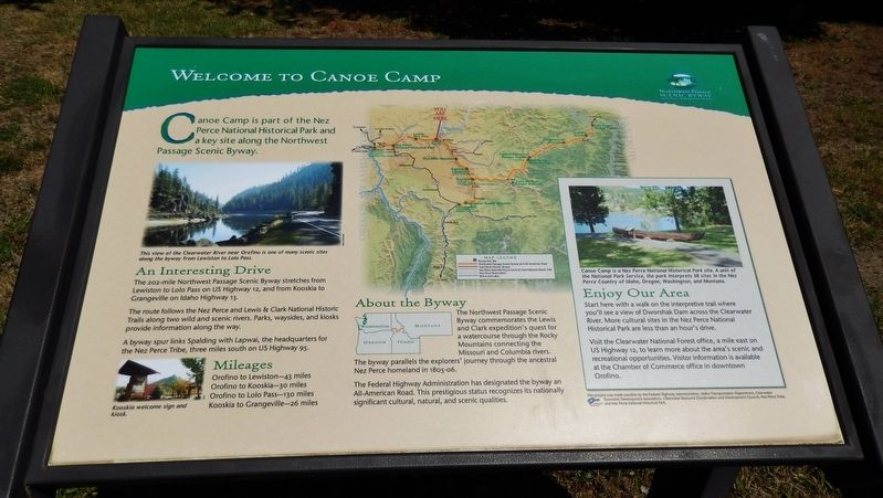 Welcome to Canoe Camp Marker image. Click for full size.
