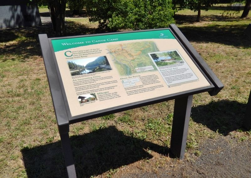 Welcome to Canoe Camp Marker (<i>wide view</i>) image. Click for full size.
