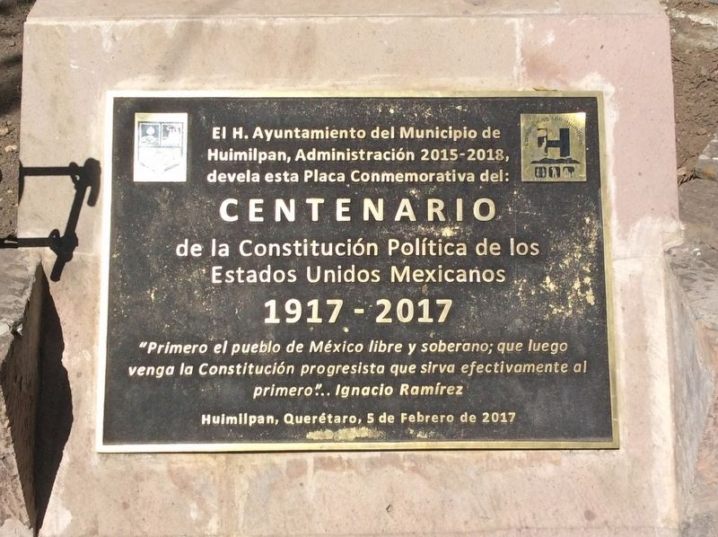 The Mexican Constitution of 1917 Marker image. Click for full size.