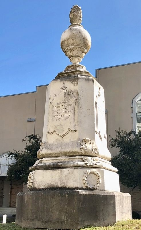 Louisiana Civil War Monument Marker (East side) image. Click for full size.