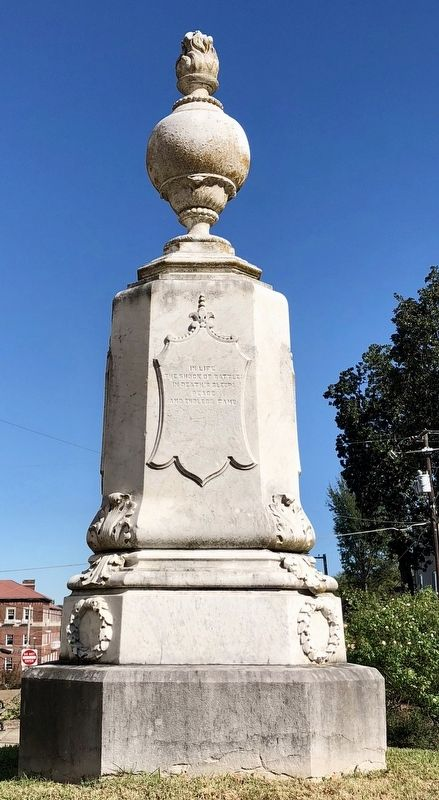 Louisiana Civil War Monument (South side) image. Click for full size.