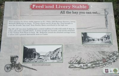 Feed and Livery Stable (site) Marker image. Click for full size.