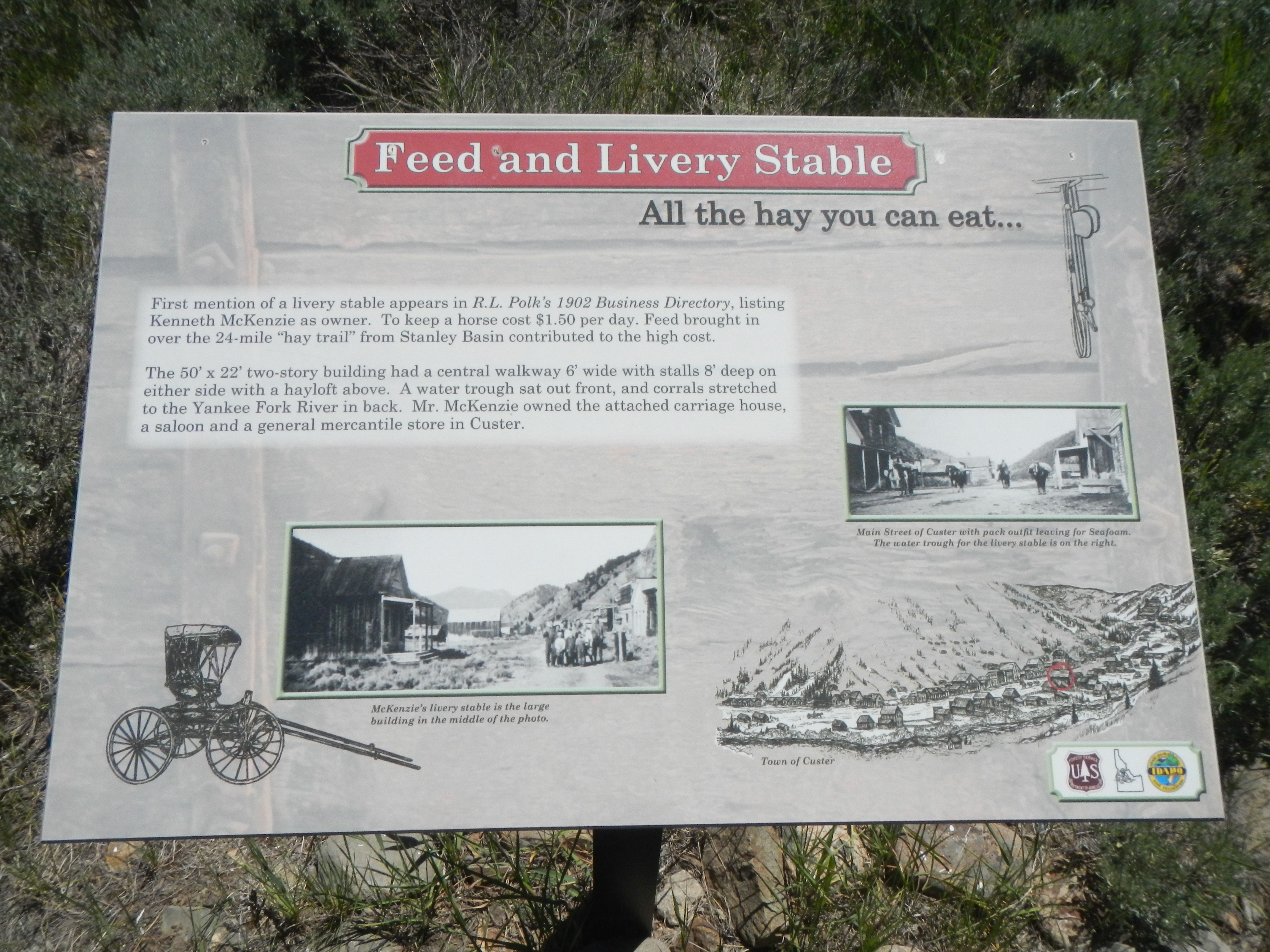 Feed and Livery Stable (site) Marker