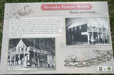 Nevada House Hotel (site) Marker image. Click for full size.