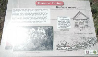 Miners' Union (site) Marker image. Click for full size.