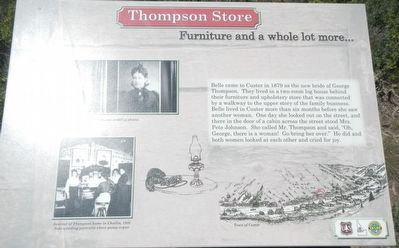 Thompson Store (site) Marker image. Click for full size.