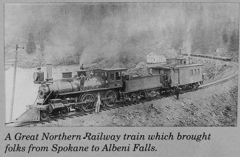 Marker Detail: Great Northern Train image. Click for full size.