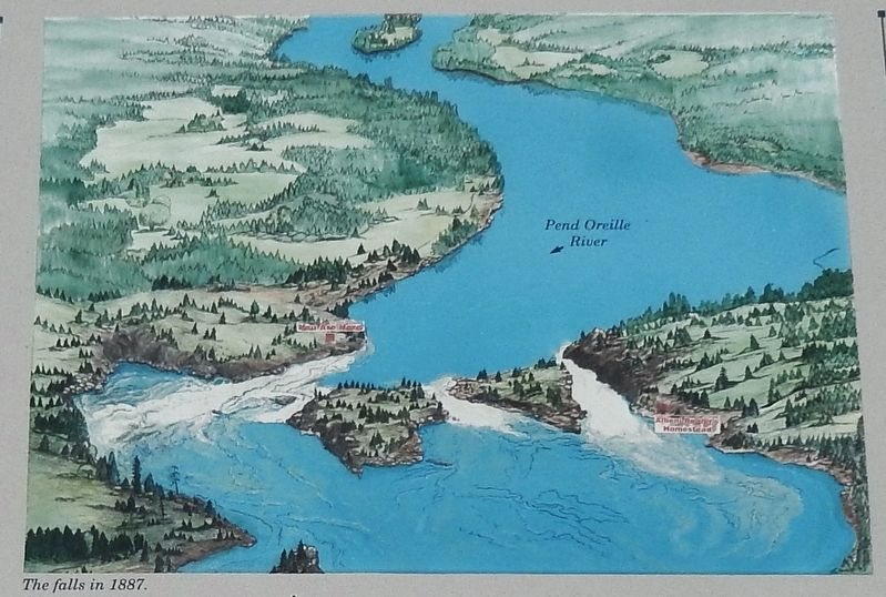 Marker Detail: Albeni Falls Map image. Click for full size.