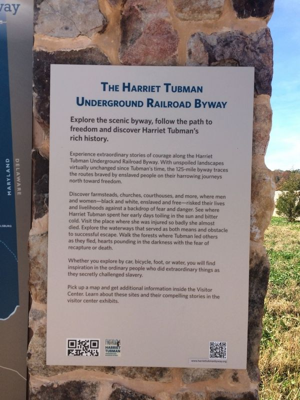 The Harriet Tubman Underground Railroad Byway Marker image. Click for full size.